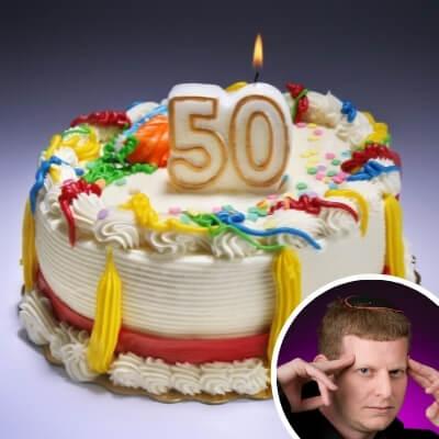 אמן חושים ליום הולדת 50